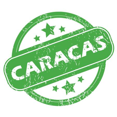 caracas: Caracas green stamp