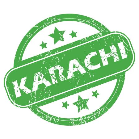 karachi: Karachi green stamp