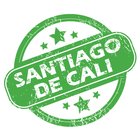 santiago: Santiago De Cali green stamp