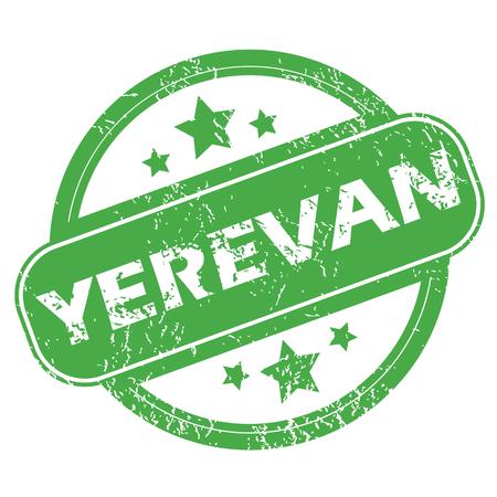 yerevan: Yerevan green stamp Illustration