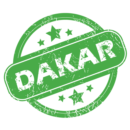 dakar: Dakar green stamp Illustration