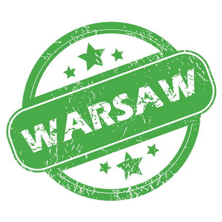 warsaw: Warsaw green stamp