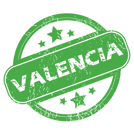 valencia: Valencia green stamp Illustration