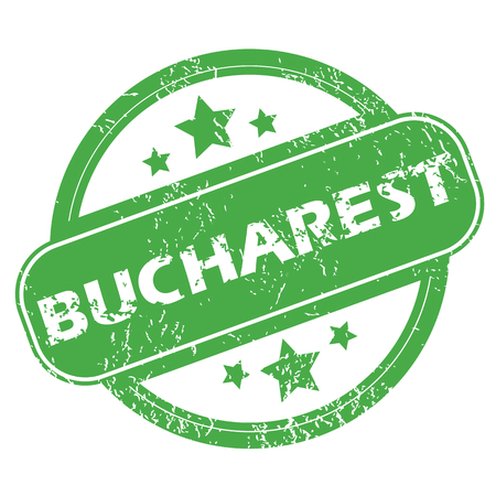 messy office: Bucharest green stamp