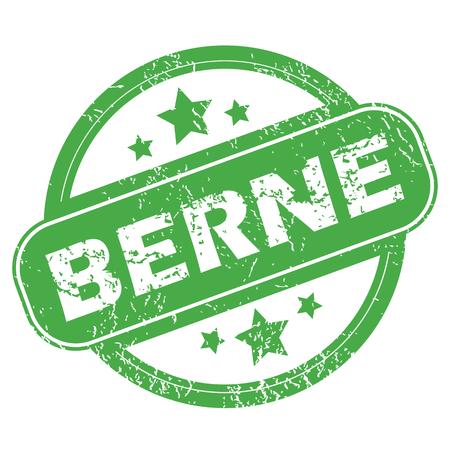 archive site: Berne green stamp Illustration