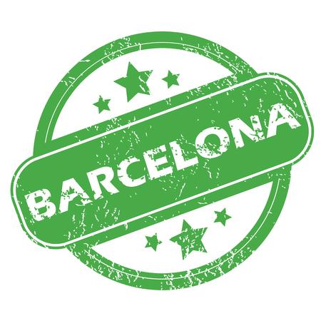 barcelona: Barcelona green stamp