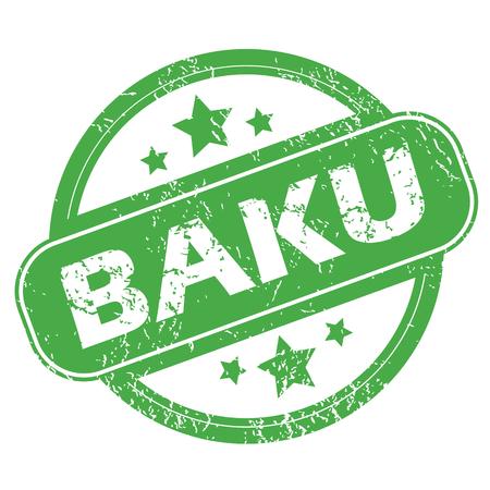 baku: Baku green stamp Illustration