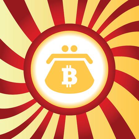 net trade: Bitcoin purse abstract icon