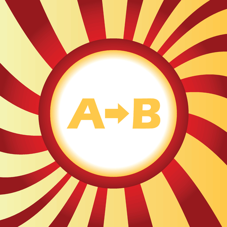 derivation: A to B abstract icon