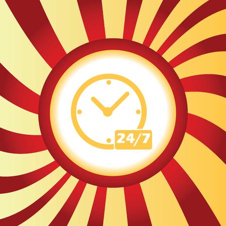 overnight: Workhours Pernottamento quotidiane astratto icona Vettoriali