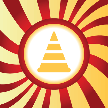 Traffic cone abstract icon Illustration
