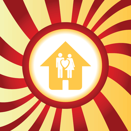family house: Family house abstract icon