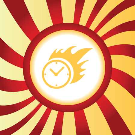 bounds: Burning clock abstract icon