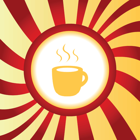 hot drink: Hot drink abstract icon Illustration
