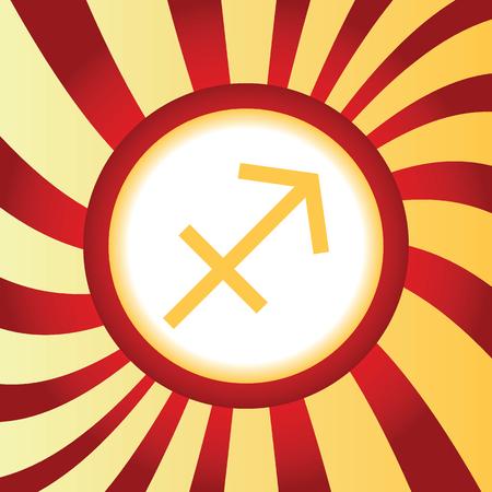 abstract symbolism: Sagittarius abstract icon Illustration