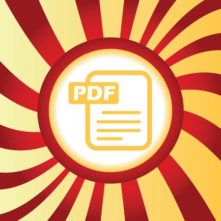 pdf: PDF file abstract icon Illustration