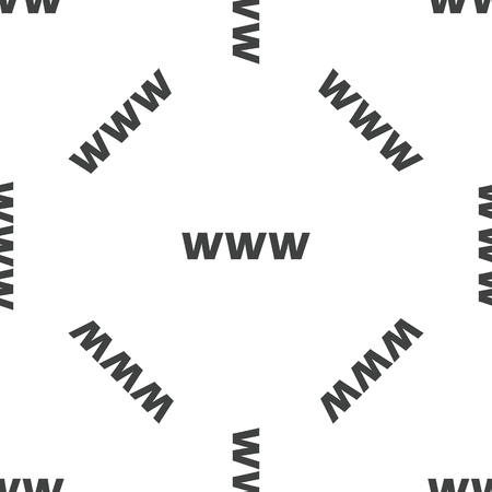 www: WWW pattern Illustration