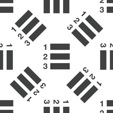 enumerated: Numberes list pattern Illustration