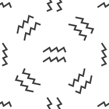 ecliptic: Aquarius pattern Illustration