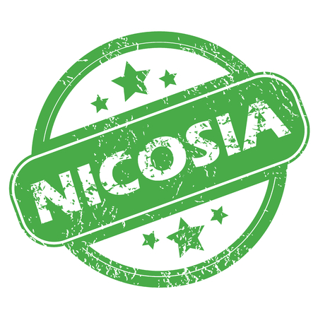 Nicosia green stamp Vector
