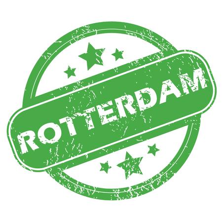 rotterdam: Rotterdam green stamp Illustration