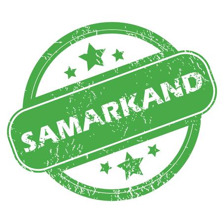 samarkand: Samarkand green stamp