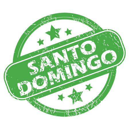 santo: Santo Domingo green stamp