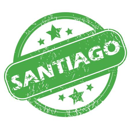 santiago: Santiago green stamp