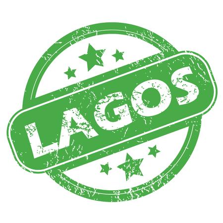 lagos: Lagos green stamp