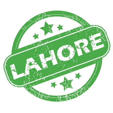 Lahore green stamp Illustration
