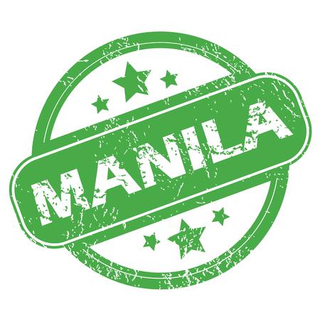 manila: Manila green stamp