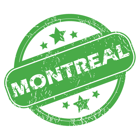 montreal: Montreal green stamp Illustration
