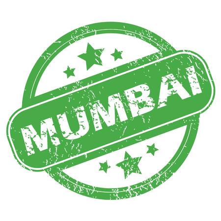 mumbai: Mumbai green stamp Illustration