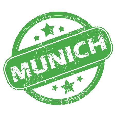 m�nchen: Munich green stamp