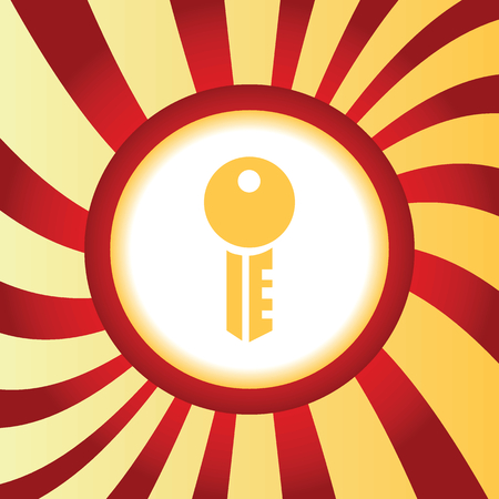 doorlock: Yellow icon with image of key, in the middle of abstract background