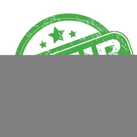 archive site: Izmir green stamp Illustration