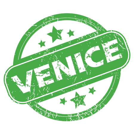 archive site: Venice green stamp Illustration