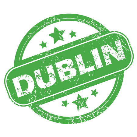 ireland cities: Dublin green stamp