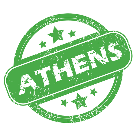 athens: Athens green stamp