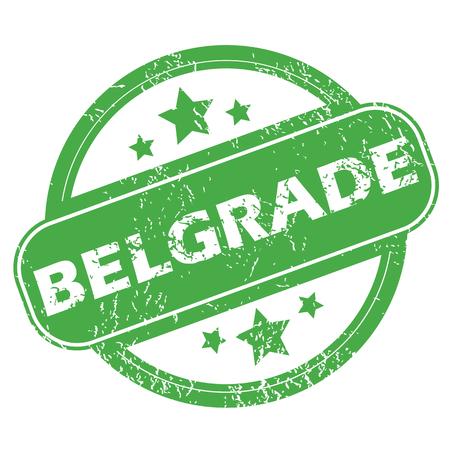 belgrade: Belgrade green stamp