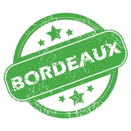 Bordeaux green stamp Illustration