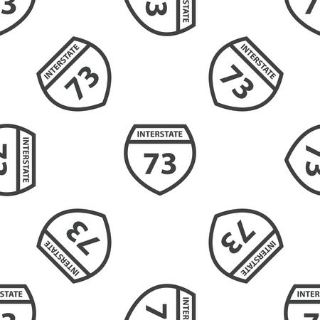 interstate: Interstate 73 pattern Illustration
