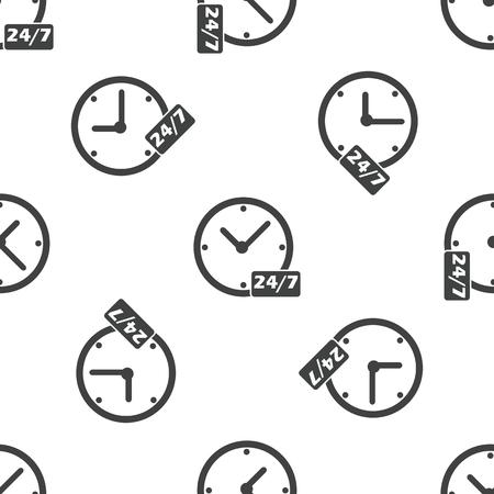 overnight: Pernottamento quotidiano workhours modello Vettoriali