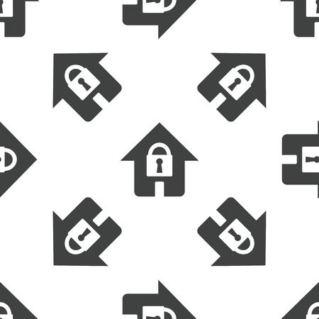 locked: Locked house pattern Illustration