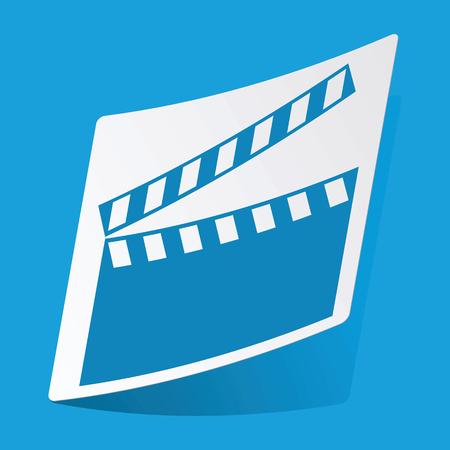 3 d illustrations: Movie sticker