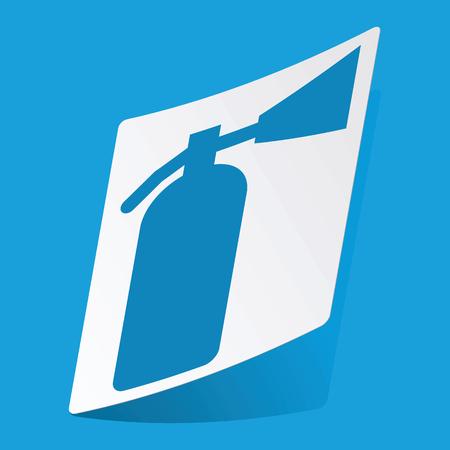 burn out: Brandblusser sticker