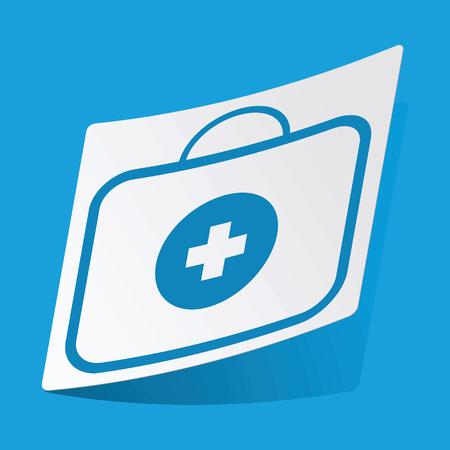 first aid kit: First aid kit sticker Illustration