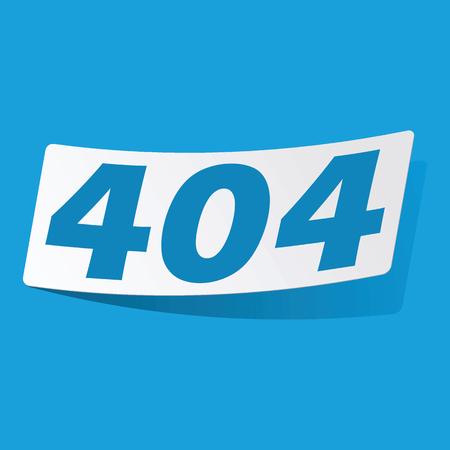 3 d illustrations: 404 sticker