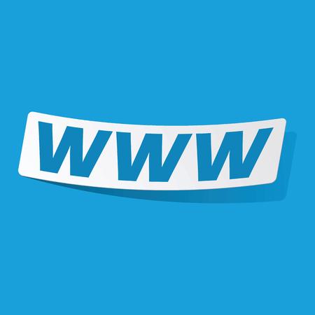 3 d illustrations: WWW sticker Illustration