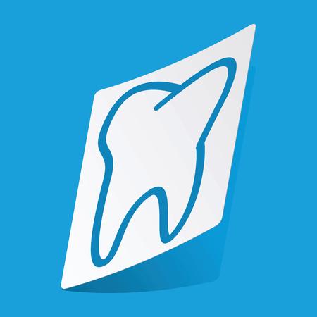 3 d illustrations: Tooth sticker